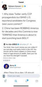 Raheem Kassam: How Does Twitter Verify CCP Propaganda, but Ban US Congressional Candidates?