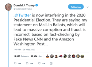 President Trump Accuses Twitter of Election Interference and 'Stifling Free Speech'