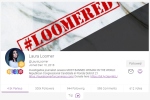 Laura Loomer Exceeds Pre-Ban Twitter Following on Parler With 300k Followers