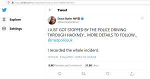 A Statement From Tommy Robinson – Dawn Butler