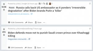 "Fake President Biden Calls Putin ""Killer"" as He Defends Prince Salman"