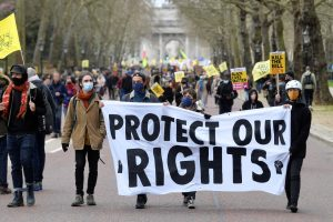 Protests in the UK and Brussels Against Brutal Government Oppression