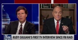 Rudy Giuliani Appears on Tucker Carlson After Raid