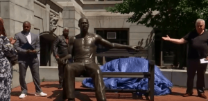 George Floyd Statue Unveiled Outside City Hall in Newark