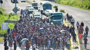 Migrant Caravan Bust Through Mexican Cops!